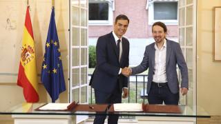 Ισπανία: Το Podemos θα στηρίξει Σάντσεθ μόνο εάν μετέχει στην κυβέρνηση