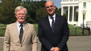 Συνομιλίες Δένδια - Μπόλτον για την ενδυνάμωση της στρατηγικής σχέσης Ελλάδας - ΗΠΑ