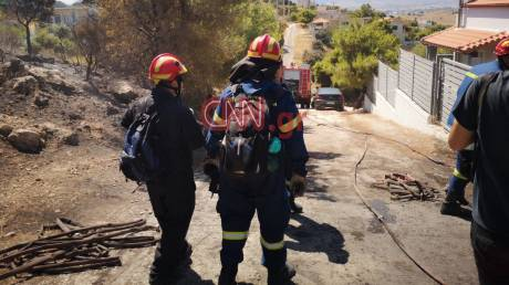 Φωτιά Μέγαρα: Τέθηκε υπό μερικό έλεγχο