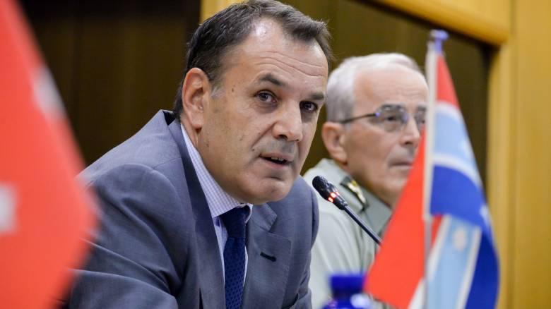 Μήνυμα Παναγιωτόπουλου στην Τουρκία: Υπάρχουν «κόκκινες γραμμμές» στο Αιγαίο