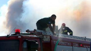 Φωτιά στην περιοχή Καραβάδος του Ηρακλείου