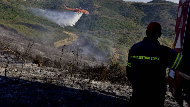 Υπό μερικό έλεγχο οι φωτιές σε Κερατέα, Φθιώτιδα και Λάρισα