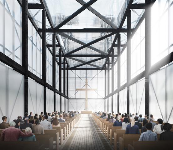 gensler designs temporary worship space for notre dame paris dezeen 2364 col 3