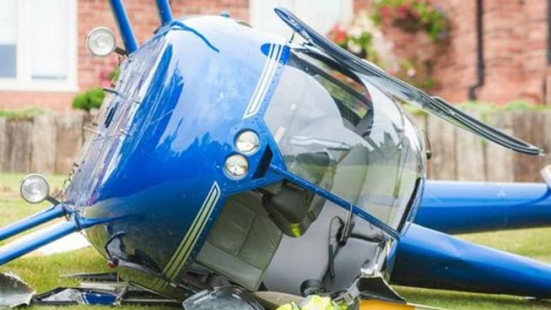Ελικόπτερο έπεσε μέσα σε αυλή σπιτιού – Το λάθος του πιλότου