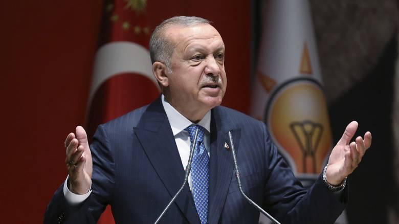 Ερντογάν: Δεν θα μείνουμε αδιάφοροι στις προσπάθειες σφετερισμού και σαμποτάζ στην Αν. Μεσόγειο