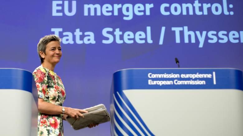 Επικοινωνία Mητσοτάκη με την Ευρωπαία Eπίτροπο Ανταγωνισμού