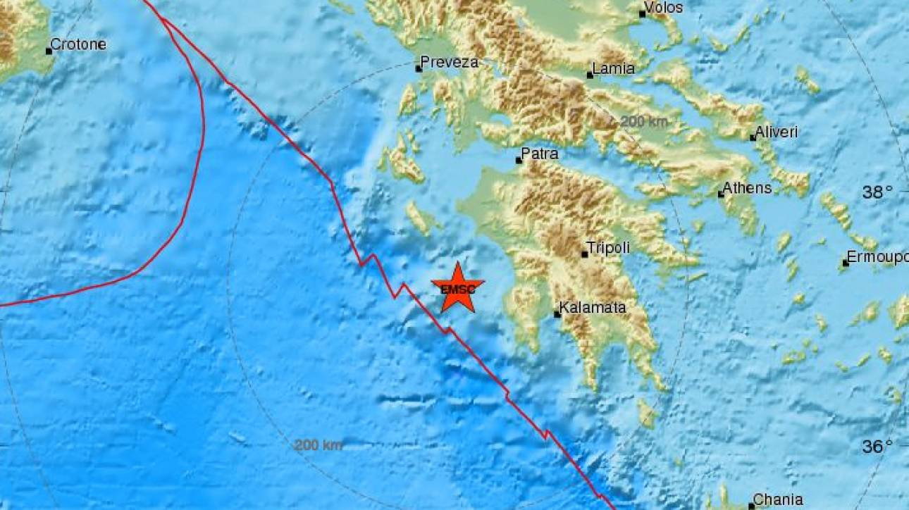 Σεισμός δυτικά της Κυπαρισσίας - Αισθητός σε αρκετές περιοχές