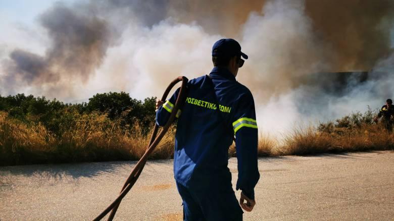Μεγάλη πυρκαγιά στην Ελαφόνησο - Ενισχύονται οι δυνάμεις