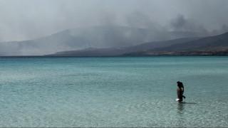 «Μάχη» με τις φλόγες στην Ελαφόνησο: Νέα ενίσχυση των δυνάμεων μετά την αναζωπύρωση