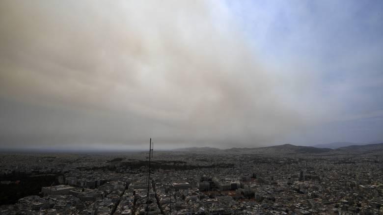 Φωτιά στην Εύβοια: Αποπνικτική η ατμόσφαιρα και στην Αθήνα