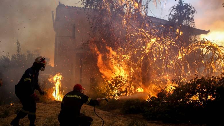 Φωτιά στην Εύβοια: Αίτημα για βοήθεια από την Ευρώπη