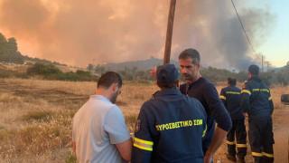 Φωτιά Εύβοια - Μπακογιάννης: Δύο τα ενεργά μέτωπα της φωτιάς