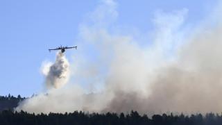 Φωτιά – Εύβοια: Μάχη με το χρόνο και τους ανέμους σε δύο μέτωπα