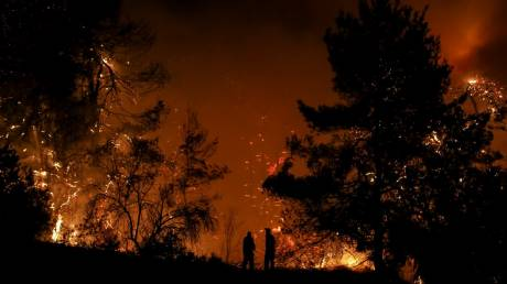 Φωτιά στην Εύβοια: Δύσκολη η νύχτα - Ενισχύονται οι πυροσβεστικές δυνάμεις