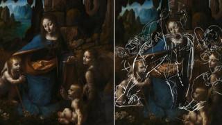 Λεονάρντο Ντα Βίντσι: Ανακαλύφθηκαν άγνωστα σκίτσα κάτω από διάσημο πίνακά του