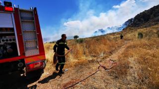 Σε εξέλιξη φωτιά στο Ρέθυμνο - Οι ισχυροί βοριάδες δυσχεραίνουν το έργο της πυρόσβεσης