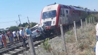 Θεσσαλονίκη: Νεκρή η συνοδηγός του Ι.Χ που συγκρούστηκε με αμαξοστοιχία