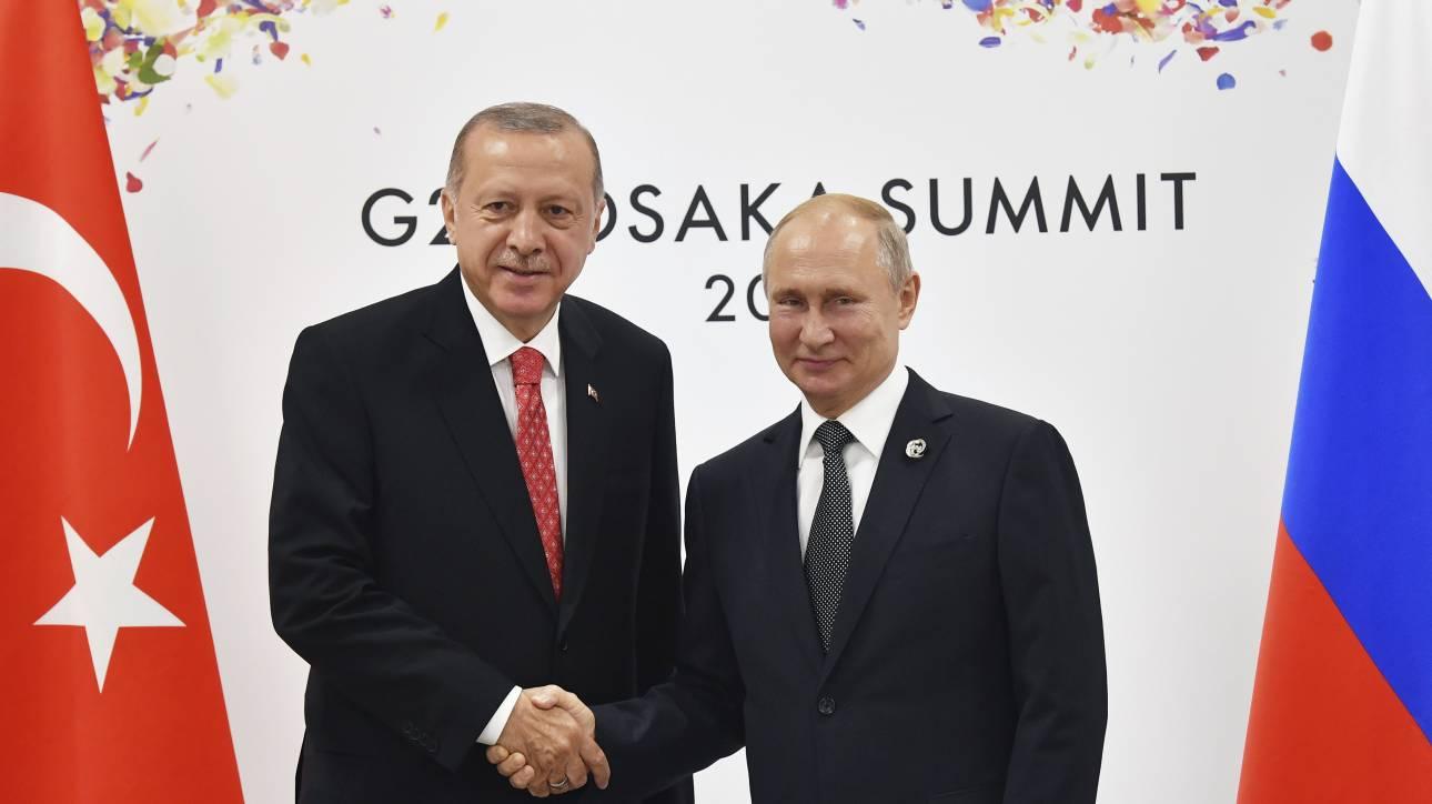 Τηλεφωνική επικοινωνία Πούτιν - Ερντογάν για την Ιντλίμπ της Συρίας