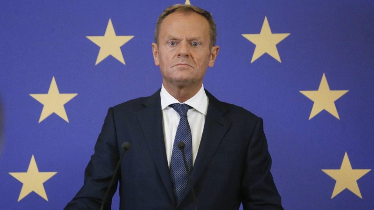 Τουσκ για Brexit: Δε θα συνεργαστούμε σε ένα σχέδιο για έξοδο χωρίς συμφωνία
