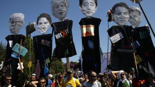 Διαδηλώσεις στο περιθώριο της G7 κατά της οικονομικής και κλιματικής πολιτικής των επτά «ισχυρών»