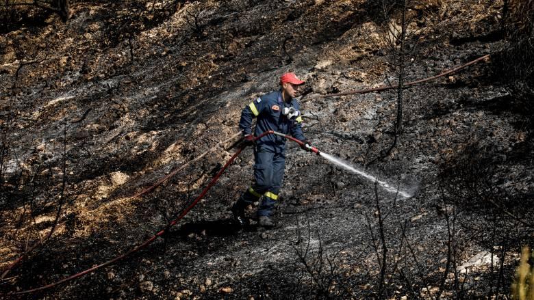 Συναγερμός στον Μεσόκαμπο Σάμου από μεγάλη πυρκαγιά
