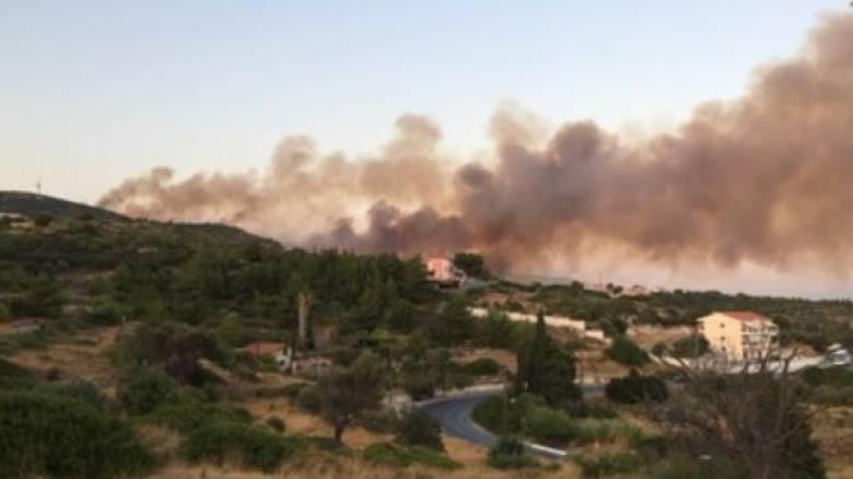 Μεγάλη φωτιά στη Σάμο: Εκκενώθηκαν ξενοδοχεία - Απομακρύνθηκε κόσμος από τις παραλίες