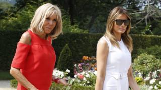 Μπριζίτ Μακρόν και Μελάνια Τραμπ: Ένα κεφάλαιο από μόνες τους στη σύνοδο των G7