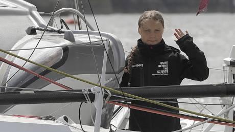 Γκρέτα Τούμπνεργκ: «Πιάνει» λιμάνι μετά το διάπλου του Ατλαντικού