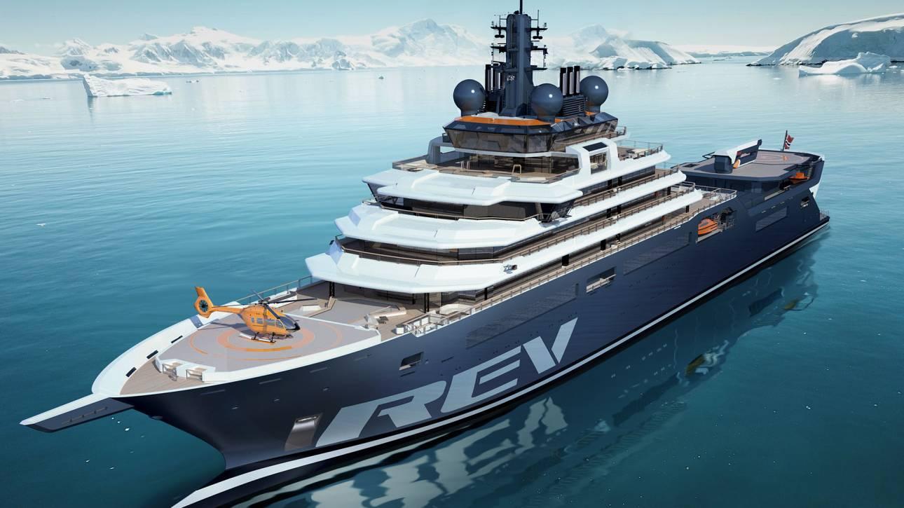 REV Ocean: Το νέο μεγαλύτερο γιοτ του κόσμου έχει μια σημαντική αποστολή