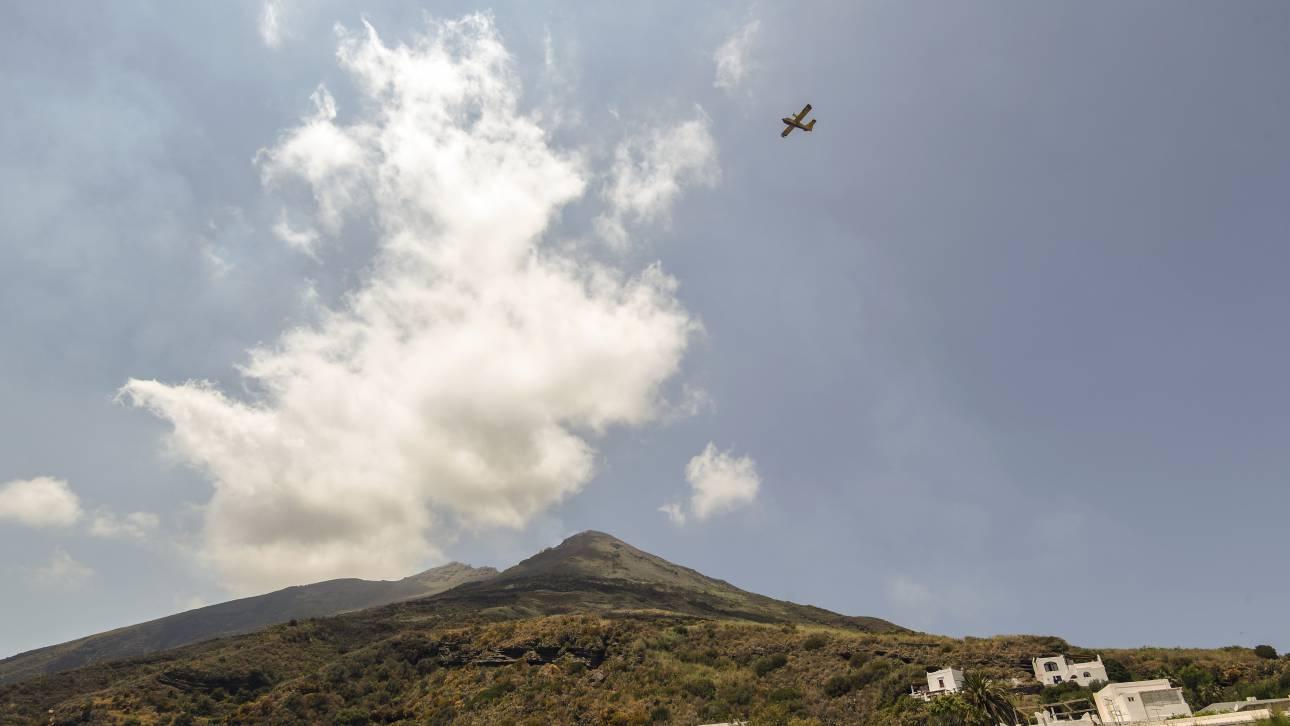 Ισχυρή έκρηξη του ηφαιστείου Στρόμπολι ανοικτά της Σικελίας