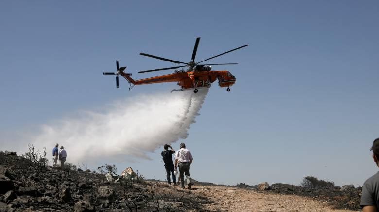 «Μάχη» της Πυροσβεστικής σε Αρτέμιδα και Δελφούς