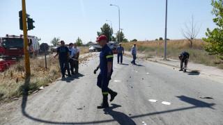 Λάρισα: Σοβαρό τροχαίο με πέντε τραυματίες