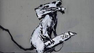 Ένας Banksy εκλάπη από το Κέντρο Πομπιντού