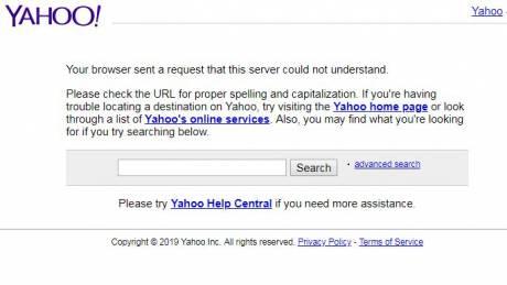 «Έπεσε» το Yahoo