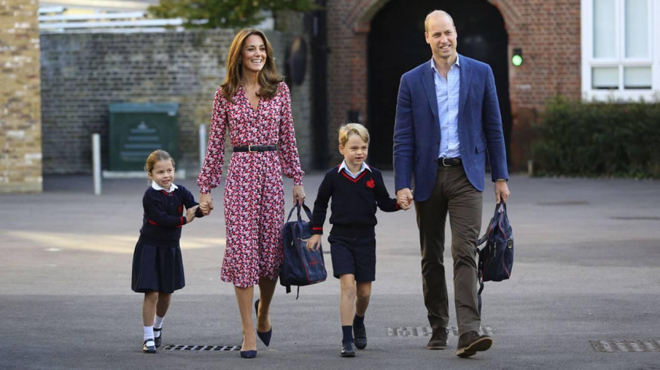 Πριγκιπικά... βάσανα: Η πρώτη μέρα της μικρής Σάρλοτ στο σχολείο
