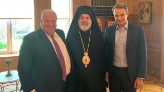 Συνάντηση Αρχιεπισκόπου Μ. Βρετανίας με Παυλόπουλο και Μητσοτάκη
