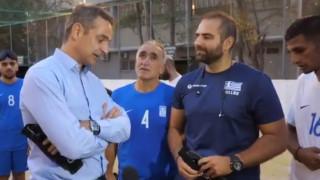 ΔΕΘ 2019: Συνάντηση Μητσοτάκη με την εθνική ομάδα ποδοσφαίρου τυφλών