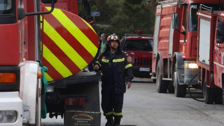 Φωτιά στη Μυτιλήνη
