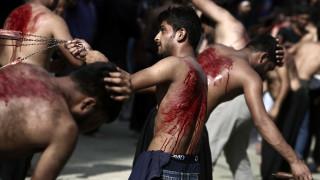 Γιορτή των Πακιστανών Μουσουλμάνων Σιιτών για την ημέρα της Ασούρα στον Πειραιά