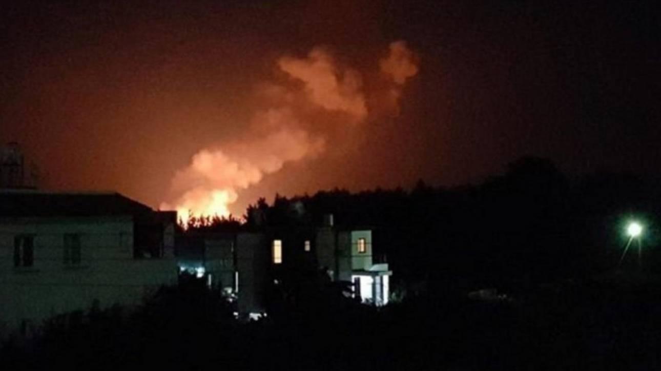 Μπαράζ εκρήξεων σε αποθήκη πυρομαχικών στα κατεχόμενα - Αναφορές για τραυματίες
