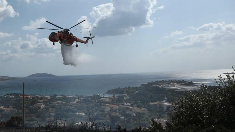 Φωτιά στο Λαγονήσι: Σε ύφεση το μέτωπο – Αποκαταστάθηκε η κυκλοφορία (pics&vids)