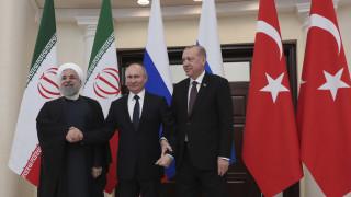 Ξεχωριστές συναντήσεις Πούτιν με Ερντογάν και Ροχανί στην Άγκυρα