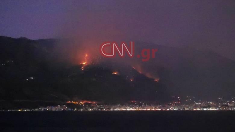 Φωτιά στο Λουτράκι: Εκκενώθηκαν το μοναστήρι του Αγίου Πατάπιου και το γηροκομείο