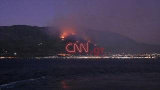 Φωτιά στο Λουτράκι: Βελτιωμένη η εικόνα - Συνεχίζεται η επιχείρηση κατάσβεσης