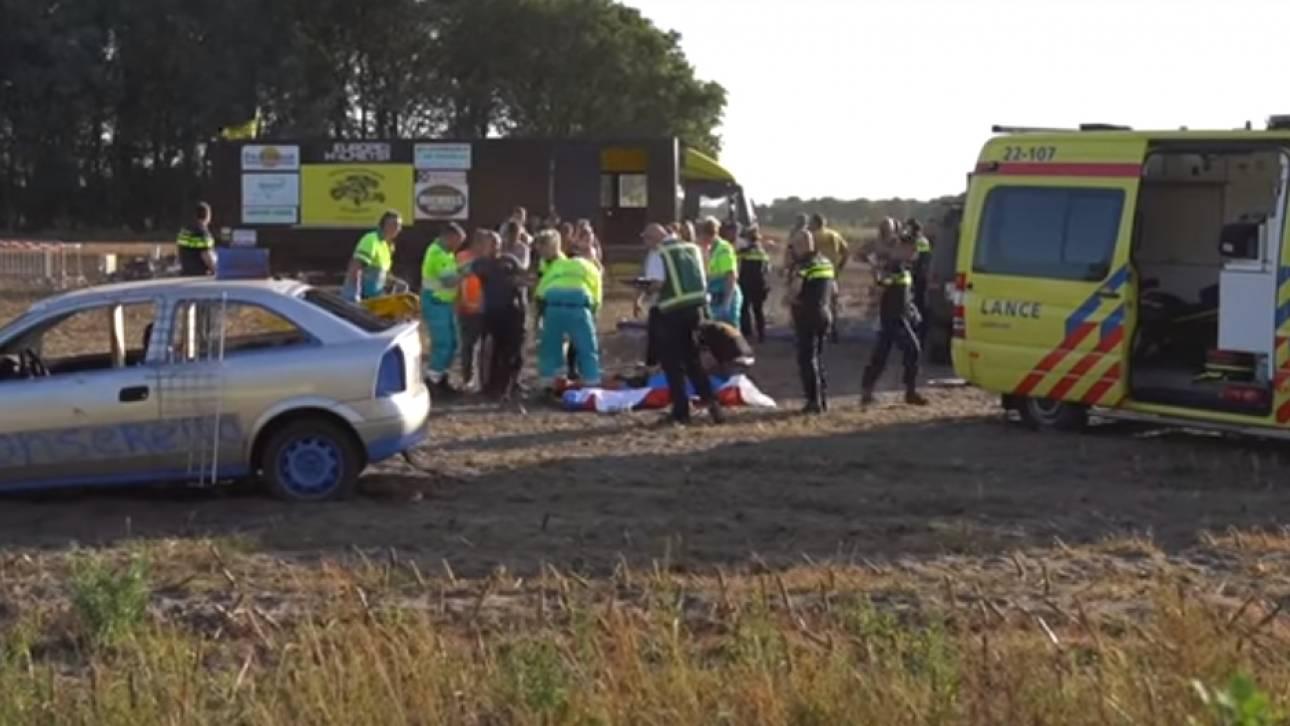 Οδηγός αγωνιστικού τσακώθηκε με την συνοδηγό του και έπεσε πάνω σε πλήθος