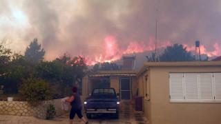 Ολονύχτια μάχη με τις φλόγες στη Ζάκυνθο: Κάηκαν σπίτια, ανεξέλεγκτες οι φλόγες