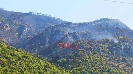 Μαύρο τοπίο: Καρέ – καρέ η καταστροφή στο Λουτράκι