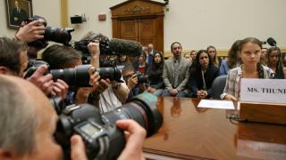 Γκρέτα Τούνμπεργκ σε Κογκρέσο: Μην ακούτε εμένα, ακούστε τους επιστήμονες