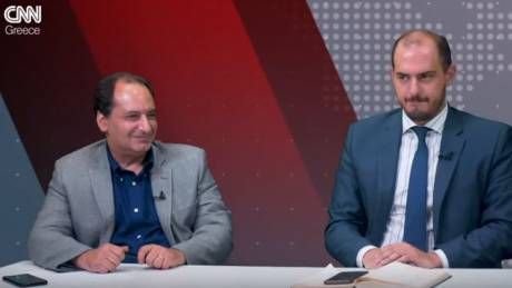 Αντιλογίες: Χ. Σπίρτζης και Γ. Κώτσηρας στο στούντιο του CNN Greece