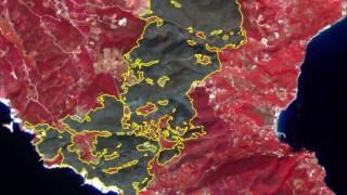 Χιλιάδες καμένα στρέμματα σε Ζάκυνθο και Λουτράκι - Εικόνες από δορυφόρο